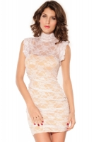 White-Floral-Mesh-Lace-Sheath-Dress-LC2617-1-2